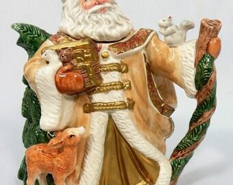 Vintage Fitz & Floyd Omnibus King Wenceslas Santa Tea Pot 1995
