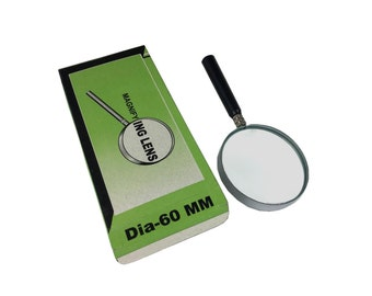 Proops 60mm Dia Magnifying Lens Glass, 2x Magnification, Hobby, Miniature Work (V5407). Free UK Postage