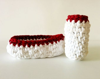 Jersey crochet baskets set