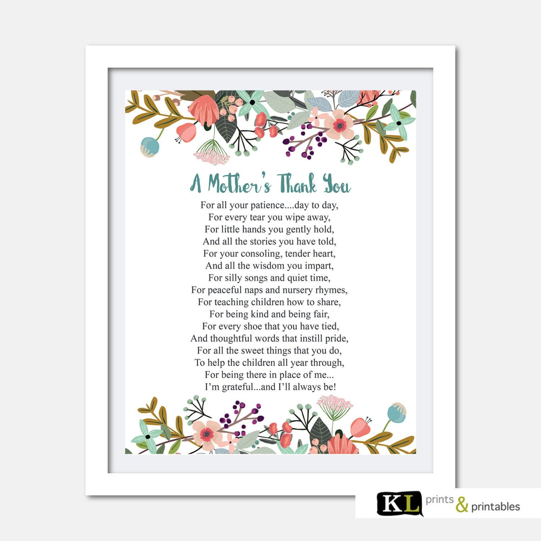 Teacher appreciation print Printable Teacher Gift