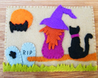 Halloweenkaart - compleet viltpakket