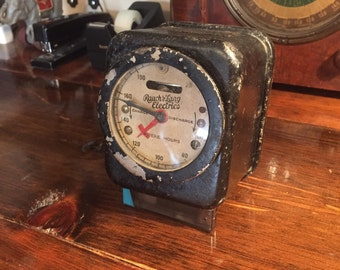 Vintage Meter Gauge from the 1940's, STEAMPUNK
