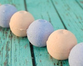 Floral Scented Mini Bath Bomb Set with Rose and Lavender Scented Mini Bath Fizzies, with Rose Clay, Cocoa Butter and Shea Butter