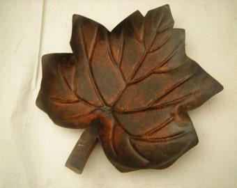 vintage metal leaf-candle dish-pot pourri-pocket change-rings-vanity top-table top-