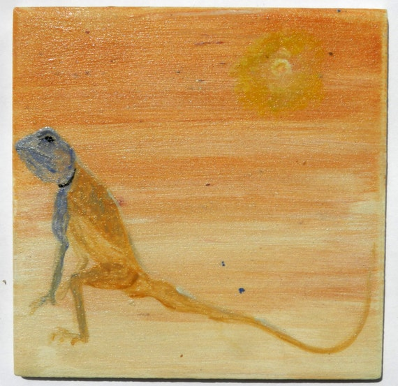 Items similar to ceramic tile of lizard 10x10 cm wall for 10x10 ceramic floor tile