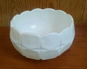 Vintage Milk Glass Footed Bowl