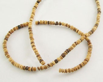 16 inch Coconut Bead Strand, Chocolate, Abacus, Bead Size About 5mm in diameter, 1.5-4mm thick, hole: 1mm   112