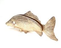 Napkin Holder, Queen Anne Fish Portes Serviettes, Modello Depositato, Menu Holder, Large Fish Figurine, Vintage Table Setting
