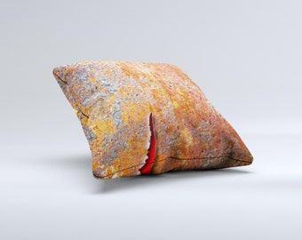 The Rusty Metal with Jagged Edge ink-Fuzed Decorative Throw Pillow