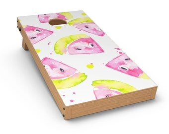Bright Highlighter WaterColor-Melins - Cornhole Board Skin Kit