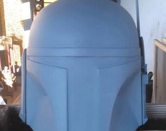 Generi Fett Left Custom Mandalorian Helmet Raw Cast