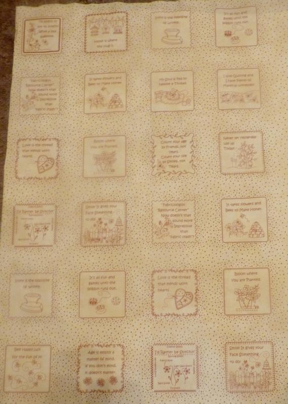 In Stitchespanel Blocks29 X 44cotton Fabric By