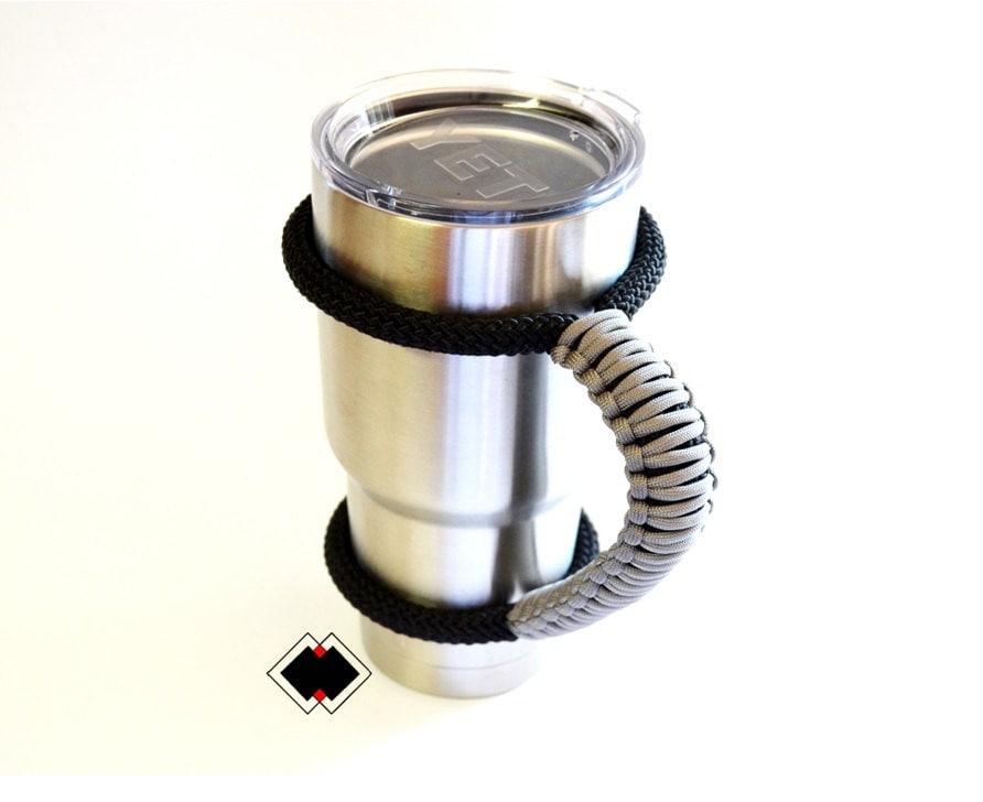 Yeti tumbler handle - grey - custom handmade USA