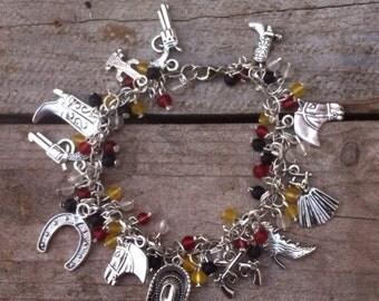 Wild wild west charm bracelet