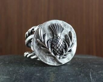 Scottish Thistle ring ~ Outlander inspired