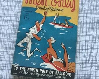 August 1955 Vintage British 'men only' magazine