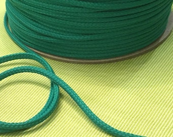 Cotton cord 4mm bottle Green