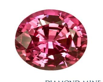 A Beautiful NaturalSapphire 1.94 Pink Oval Extra