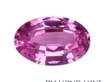 A Beautiful NaturalSapphire 1.26 Pink Oval Extra