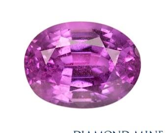 A Beautiful NaturalSapphire 1.26 Purple Oval AA
