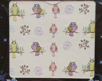 Owl nail decals/ Funny bird nail decals/ Nail stickers/ Nail art/ Nail decorations/ Manicure supplies/ art.ble2234