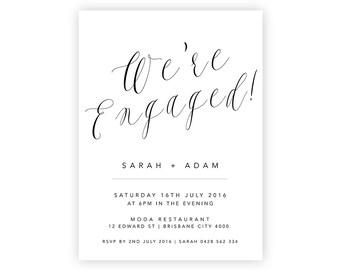 Complete Your Suite | Engagement Invitation | Wedding Event Invitation Suite | Printable Digital File Printed Invite Invitations Stationery