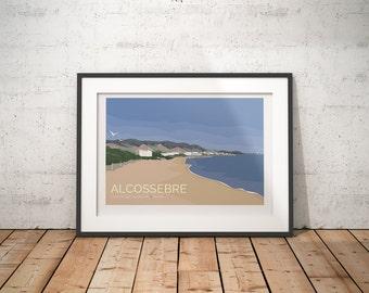 Alcossebre, Costa del Azahar, Spain - signed travel poster print