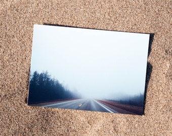 Foggy Road Postcard