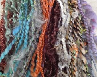 3.75 oz 42 yds handspun yarn sampler