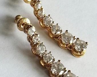 Napier Graduated Dangle Rhinestone Earrings