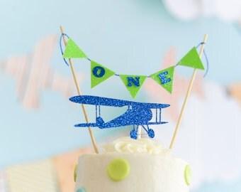 Airplane Cake topper, bi plane cake topper, Airplane cake