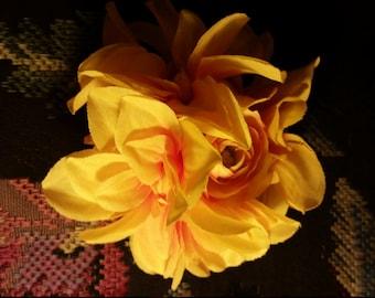 Orange Floral Arrangement Hair Clip