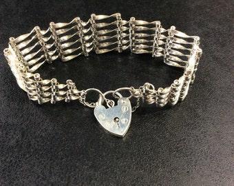 Silver gate bracelet ,hallmarked