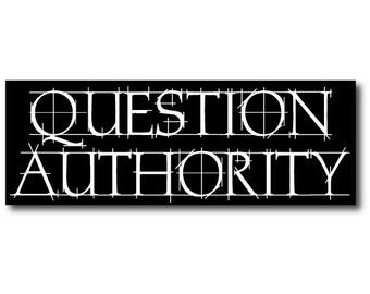 """1 """"Question Authority""""  - Indoor or Outdoor"""