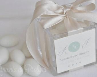 plexiglas wedding favor box