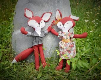 woodland fox couple