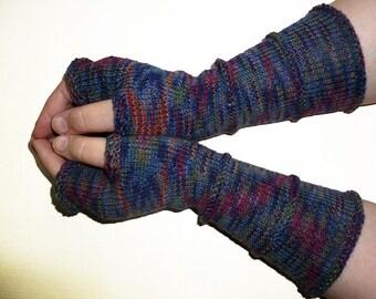 Knit Wool Fingerless Gloves Long Gloves Hand Knit Arm Warmers Wrists Warmers Mittens Women Gloves