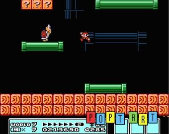 """Super Mario Bros. 3 Diorama / Shadowbox (framed artwork) NES """"World 7"""""""