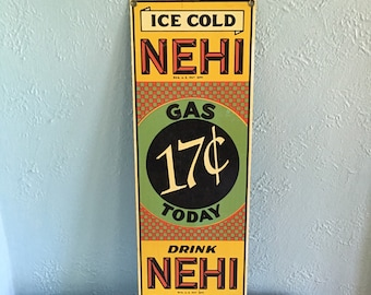 REPRODUCTION Nehi Porcelain Sign