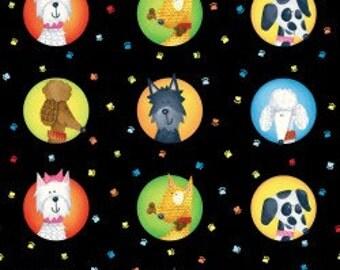 Dog's World- Dog Portraits, Fabric by the Yard