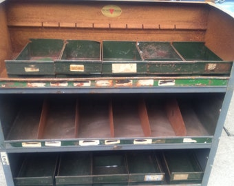 Vintage riches of london motor parts engineers parts-shelfs units,retro quirky