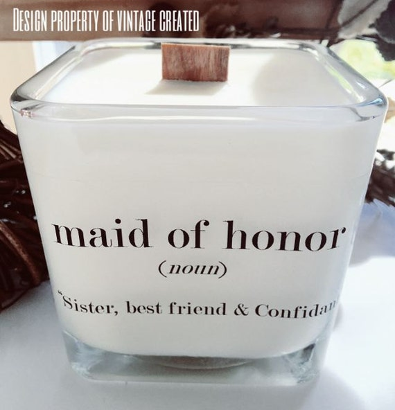 Wedding Gifts From Maid Of Honor To Bride: NEW Maid Of Honor Soy Candle Bridesmaid Gifts Maid Of Honor