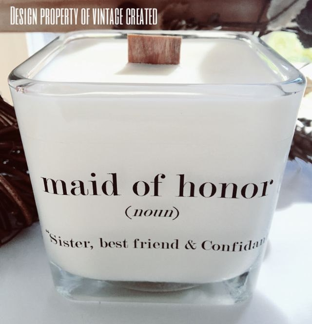 NEW Maid Of Honor Soy Candle Bridesmaid Gifts Maid Of Honor