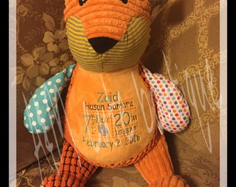 Personalized fox stuffed animal