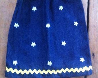 2T blue jean daisy skirt