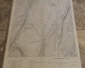 Mining Map, Vintage Mine Locations Map, Pennsylvania, Vintage Map