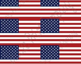 American flag print craft  vinyl sheet - HTV or Adhesive Vinyl -    HTV156