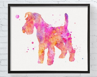 Fox Terrier Art, Fox Terrier Print, Fox Terrier Watercolor, Fox Terrier Poster, Watercolor Art, Dog Wall Decor, Fox Terrier Painting