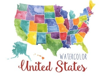 Usa Etsy - Us and usa map
