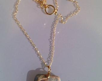 Sea Sediment Jasper Pendant Necklace